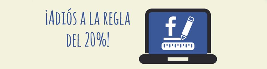 regla del 20% en Facebook